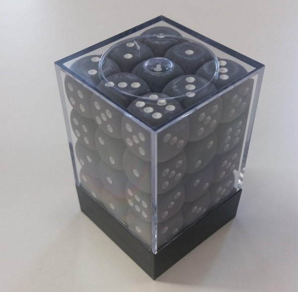 Chessex W6x36 Frosted: smoke / white