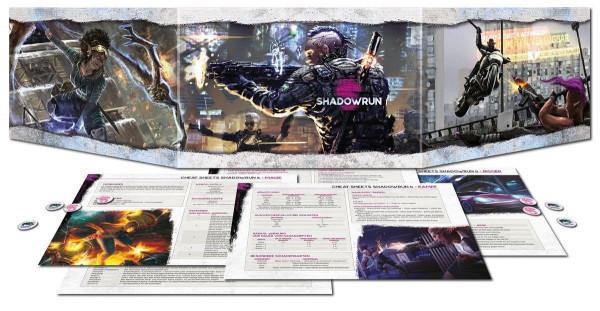 Shadowrun 6 Sichtschirm-Pack (4-seitig im Hardcover)