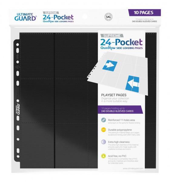 Ultimate Guard 24-Pocket Side-Loading Supreme Pages Standard Size Schwarz (10)