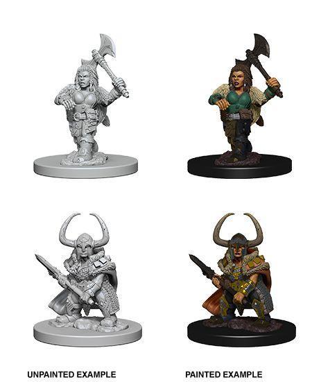 D&D Nolzur's Marvelous Unpainted Minis: Dwarf Female Barbarian