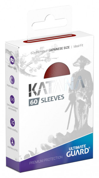 Ultimate Guard Katana Sleeves Japanese Size Rot (60)