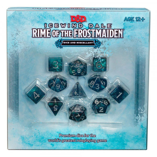 D&D Dungeons & Dragons Icewind Dale: Rime of the Frostmaiden Dice Set