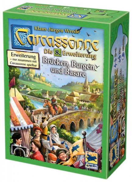 Carcassonne 2. Edition Erweiterung 8: Brücken, Burgen & Basare