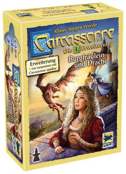 Carcassonne 2. Edition Erweiterung 3: Burgfräulein & Drachen