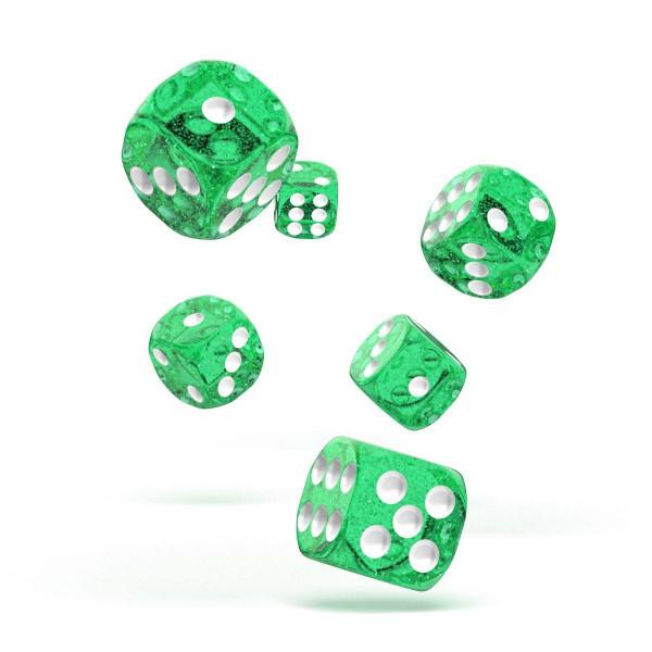 Oakie Doakie Dice D6 Dice 16 mm Speckled - Green (12)