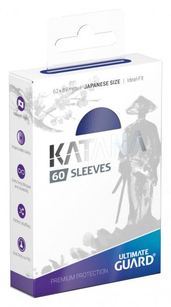Ultimate Guard Katana Sleeves Japanese Size Blau (60)