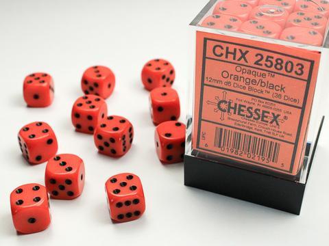 Chessex Würfel W6x36 Opaque: orange / black