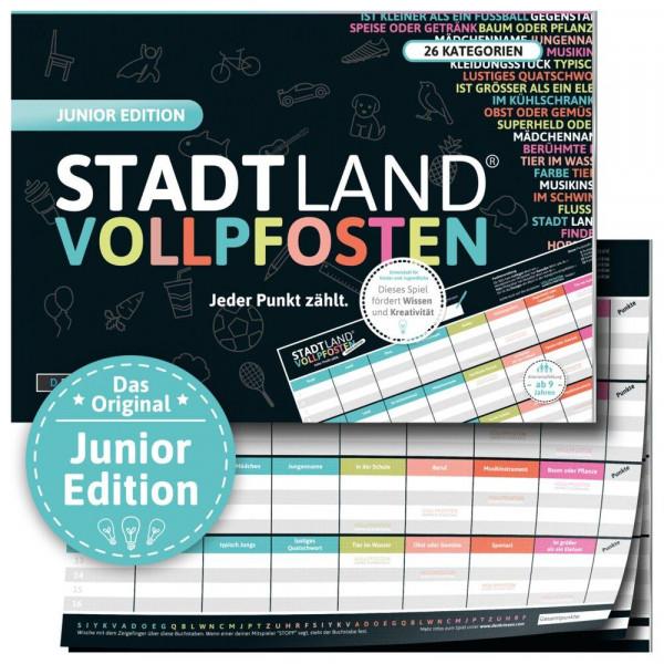 Stadt Land Vollpfosten - Junior Edition Din-A4