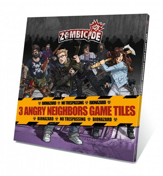 Zombicide: 3 Angry Neighbors Game Tiles