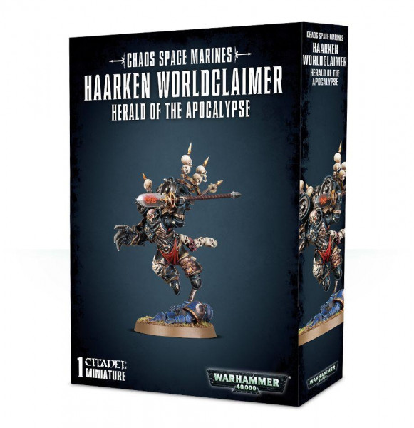Chaos Space Marines Haarken Worldclaimer Herald of the Apoyalypse