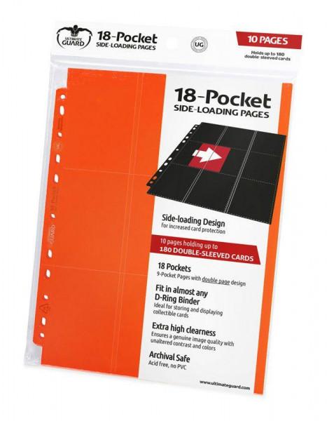Ultimate Guard 18-Pocket Side-Loading Supreme Pages Standard Size Orange (10)