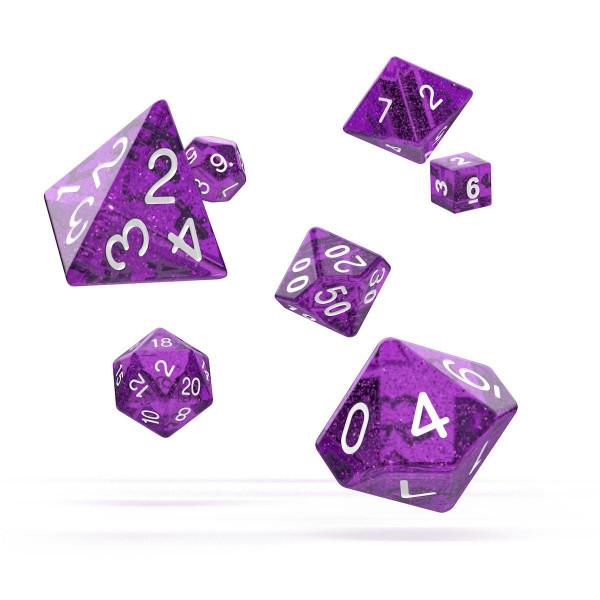 Oakie Doakie Dice RPG Set Speckled - Purple (7)