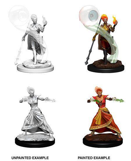D&D Nolzur's Marvelous Unpainted Minis: Fire Genasi Female Wizard